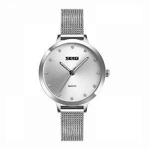 Relógio Feminino Skmei Analógico 1291 Prata