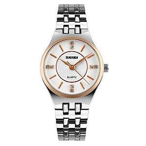 Relógio Feminino Skmei Analógico 1133 Branco