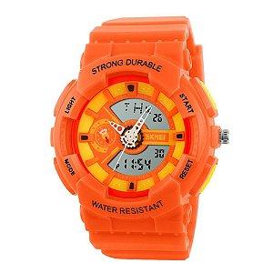Relógio Infantil Skmei AnaDigi 1052 - Laranja