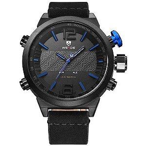 Relógio Masculino Weide AnaDigi WH-6101 - Preto e Azul