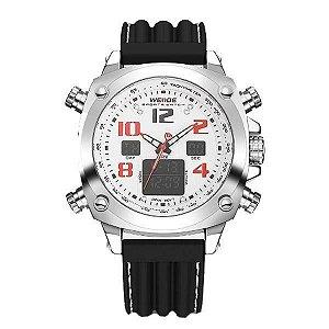 Relógio Masculino Weide AnaDigi WH-5208 - Preto e Branco