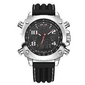 Relógio Masculino Weide AnaDigi WH-5208 - Preto e Prata
