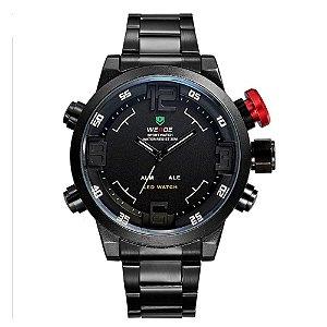 Relógio Masculino Weide AnaDigi WH-2309 - Preto e Branco