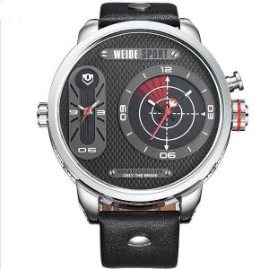 Relógio Masculino Weide Analógico WH-3409 Prata e Preto