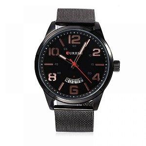 Relógio Masculino Curren Analógico 8236 - Preto e Cobre