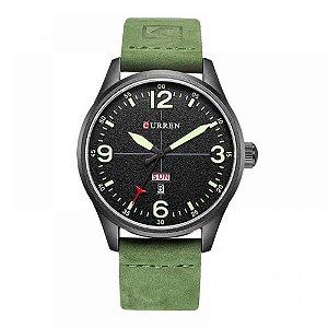 Relógio Masculino Curren Analógico 8265 - Verde e Preto