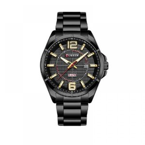 Relógio Masculino Curren Analógico 8271 - Preto e Dourado