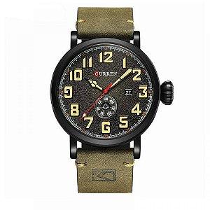 Relógio Masculino Curren Analógico 8283 - Verde e Preto