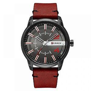 Relógio Masculino Curren Analógico 8306 - Vermelho e Preto