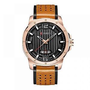 Relógio Masculino Curren Analógico 8293 - Preto e Bege