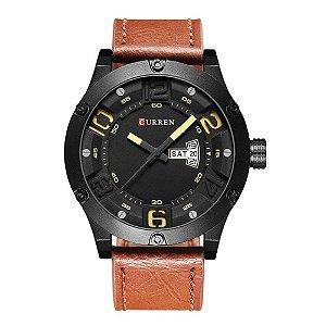 Relógio Masculino Curren Analógico 8251 Marrom