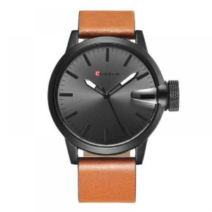 Relógio Masculino Curren Analógico 8208 - Marrom, Preto e Cinza