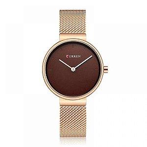 Relógio Feminino Curren Analógico C9016L - Bronze
