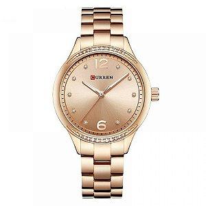 Relógio Feminino Curren Analógico C9003L - Rose