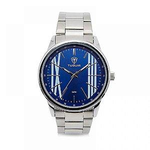 Relógio Masculino Tuguir Analógico 5011 - Prata e Azul