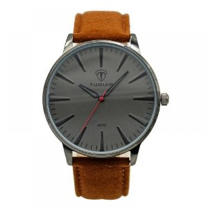 Relógio Masculino Tuguir Analógico 5273G - Marrom e Cinza