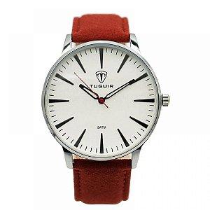 Relógio Masculino Tuguir Analógico 5273G - Vermelho e Prata