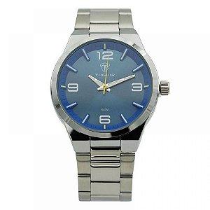 Relógio Masculino Tuguir Analógico 5440G - Prata e Azul