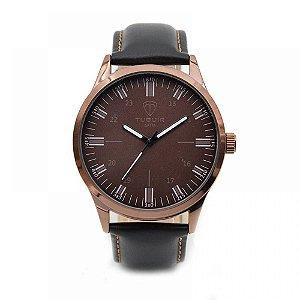 Relógio Masculino Tuguir Analógico 5005 Marrom e Preto