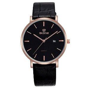 Relógio Masculino Skone Analógico 9400BG Preto