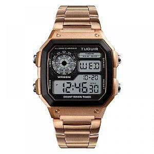 Relógio Unissex Tuguir Digital TG1335 - Rose e Preto