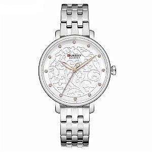 Relógio Feminino Curren Analógico C9046L - Prata