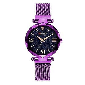 Relógio Feminino Curren Analógico C9063L - Roxo