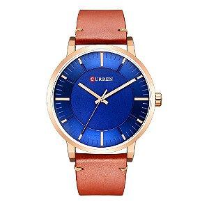 Relógio Masculino Curren Analógico 8332 - Marrom e Azul