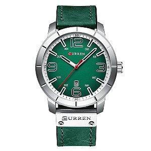 Relógio Masculino Curren Analógico 8327 - Verde e Prata