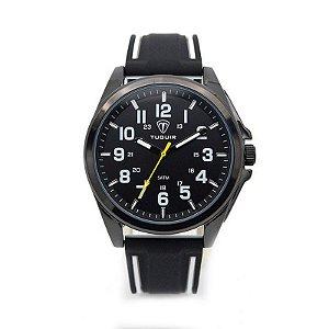 Relógio Masculino Tuguir Analógico 5045 Preto e Branco