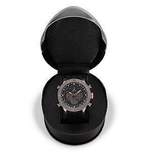 Relógio Masculino Weide AnaDigi WH-6308 - Preto e Prata