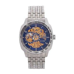 Relógio Automático Masculino Ouyawei Analógico 11817 - Prata e Dourado