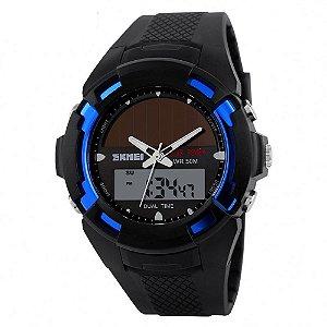 Relógio Masculino Skmei AnaDigi 1056 - Preto e Azul