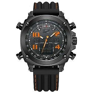 Relógio Masculino Weide AnaDigi WH-5208 - Preto e Laranja
