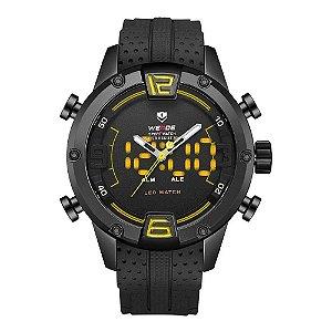Relógio Masculino Weide AnaDigi WH-7301 - Preto e Amarelo