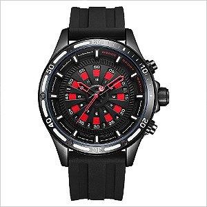 Relógio Masculino Weide Analógico WH-7308 - Preto e Vermelho