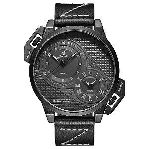 Relógio Masculino Weide Analógico UV-1706 - Preto e Branco