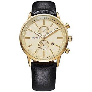 Relógio Masculino Weide Analógico WH-3302 - Dourado e Preto