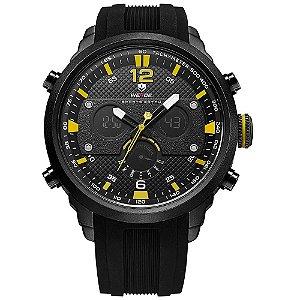 Relógio Masculino Weide AnaDigi WH6303 - Preto e Amarelo