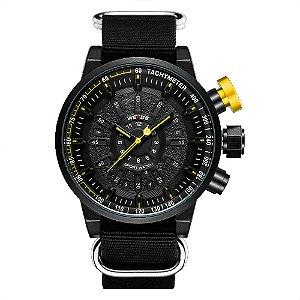 Relógio Masculino Weide Analógico WH7306 - Preto e Amarelo