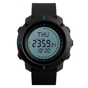 Relógio Bússola Masculino Skmei Digital 1216 - Preto e Azul