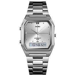 Relógio Feminino Skmei AnaDigi 1612 - Prata