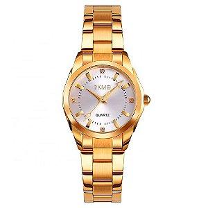 Relógio Feminino Skmei Analógico 1620 - Dourado