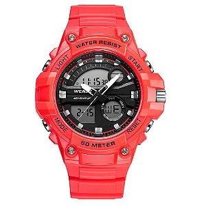 Relógio Masculino Weide AnaDigi WA3J8010 - Vermelho