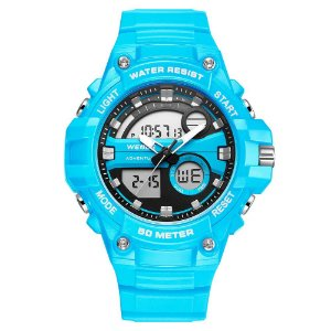 Relógio Masculino Weide AnaDigi WA3J8010 - Azul Claro