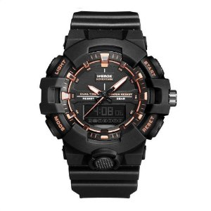 Relógio Masculino Weide AnaDigi WA3J8006 - Preto e Rosé