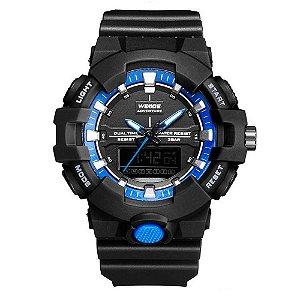 Relógio Masculino Weide AnaDigi WA3J8006 - Preto e Azul