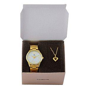 Relógio Feminino Tuguir Analógico TG117 - Dourado