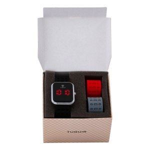 Kit Relógio e Pulseira Unissex Tuguir Digital TG110 - Preto