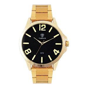 Relógio Masculino Tuguir Analógico TG100 - Dourado e Amarelo